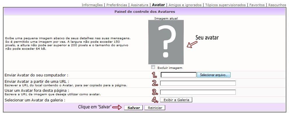 Colocando Avatar e Assinatura TutorialAvatar4