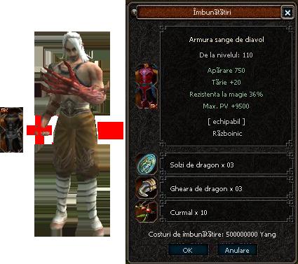 Vrajitoarea si Dragonul implementate pe server! O noua fata a armurii diavol ! O superba imagine a serverului! Diagv