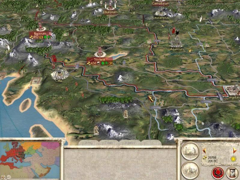 Pantallazos de Imperios del Rome Roma