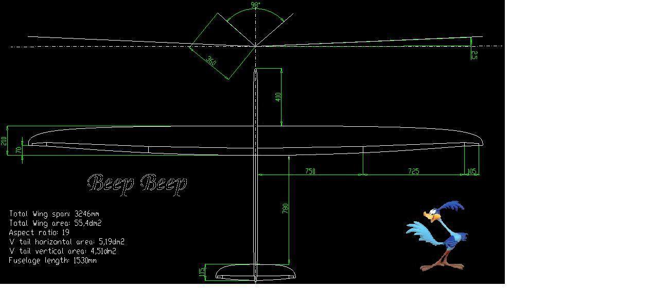 En préparation chez nous: Projet de monotype F3B «Beep Beep» F3B_Wing18_Vtail6_Volets_BeepBeep