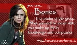 Quizz: Which Bones character are you ? Quizresultbones