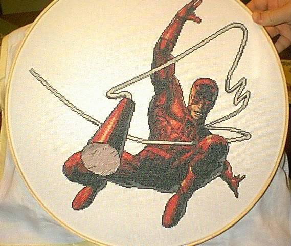 Greg's Completed Cross-Stitch Daredevil1Picture1