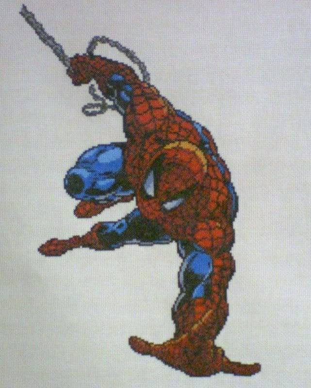 Greg's Completed Cross-Stitch Spider-ManPicture2