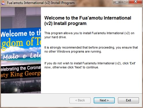 Fua'amotu International - NFTF (Review de Fontenele) Instalacao