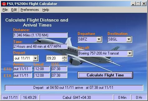 FSX/FS2004 Flight Calculator Fsx-f2004flightcalculator