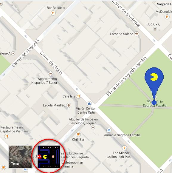 PacMan no Google Mapas Googlemapspacman01_zpshdsnxbtx