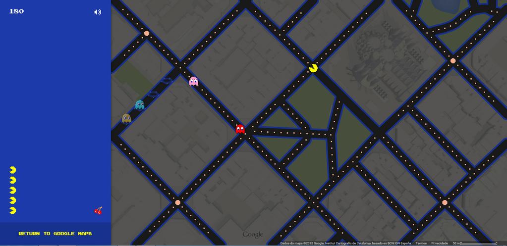 PacMan no Google Mapas Googlemapspacman02_zpsp2whdfj7