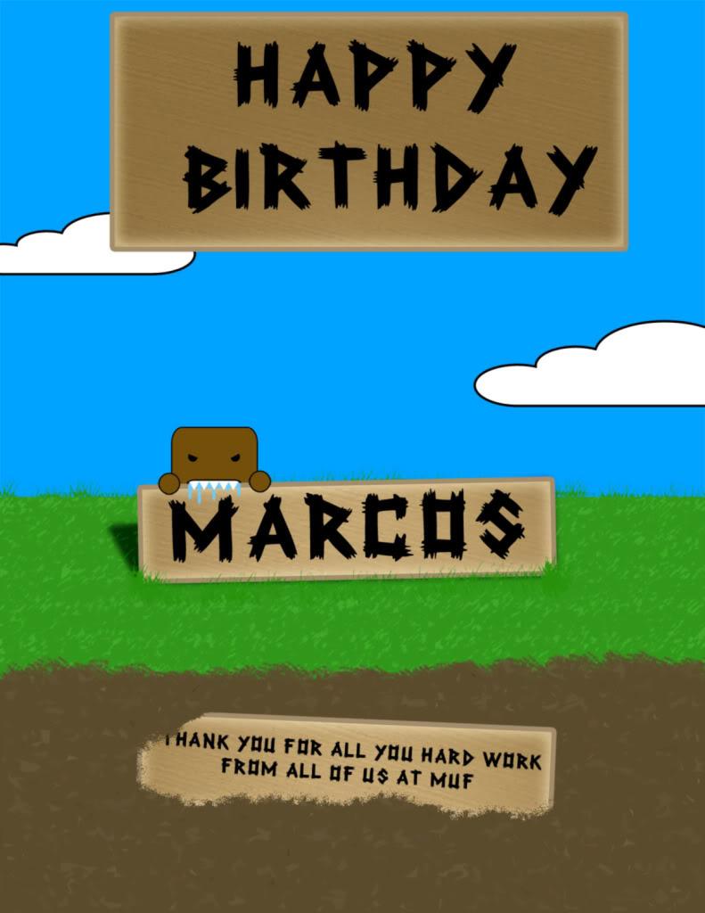 Happy Birthday Marcos  Birthday