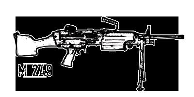 Zombie Hunters Rol Game [Etapa 2] M249-1