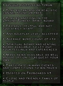 Forest Spirit: Fantasy Canine, Feline and Prey RP [LB] Info2