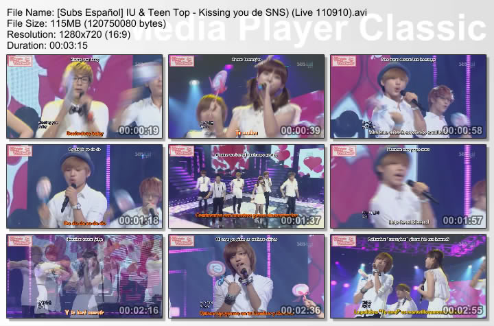 [Subs Español] IU & Teen Top - Kissing you SubsEspaolIUTeenTop-KissingyoudeSNSLive110910