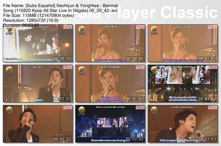 [Subs Español] SeoHyun & YongHwa - Banmal Song SubsEspaolSeoHyunYongHwa-BanmalSong110820KpopAllStarLiveInNiigata