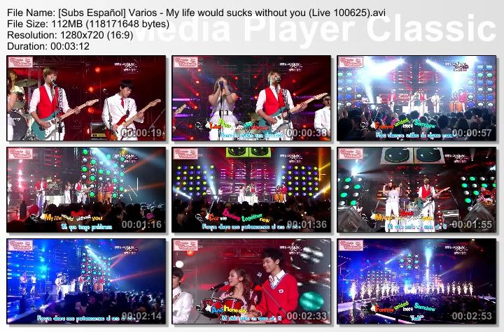 [Subs Español] Varios - My life would sucks without you SubsEspaolVarios-MylifewouldsuckswithoutyouLive100625
