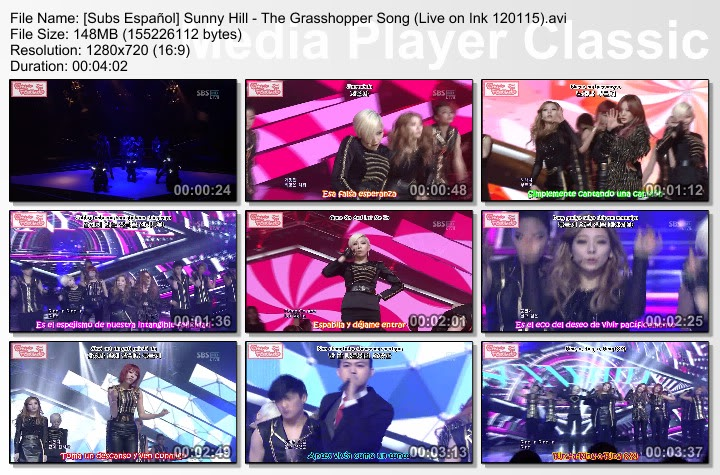 [Subs Español] Sunny Hill - The Grasshopper Song SubsEspaolSunnyHill-TheGrasshopperSongLiveonInk120115
