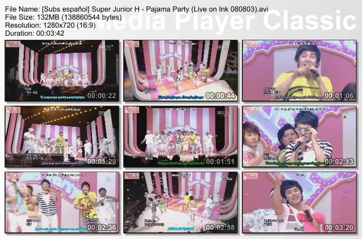 [Subs español] Super Junior H - Pajama Party SubsespaolSuperJuniorH-PajamaPartyLiveonInk080803