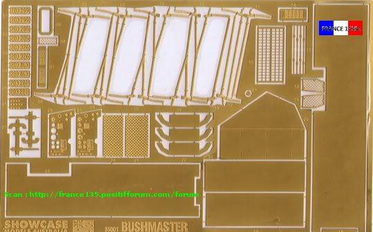 """""""Bushmaster"""". Showcase Models Australia, 1/35, ref 35001. Plastique injecté et photodécoupe. BUSHMASTER_1-35_SHOWCASE013"""