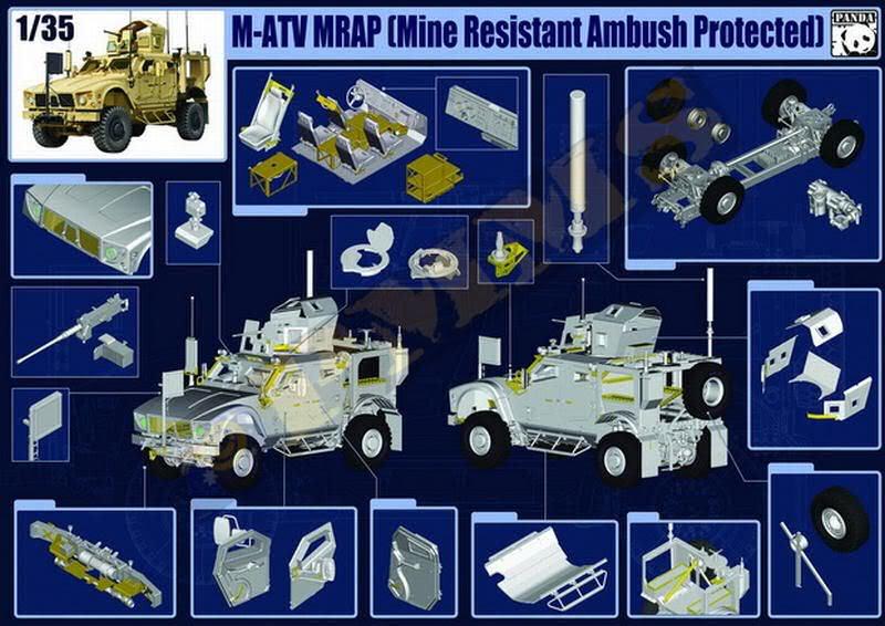 M-ATV MRAP, Kinetic & Panda Hobby. 1/35. MATVPANDA