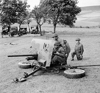 52nd anti tank - Royal Artillery - 5th ID - BEF Antichar