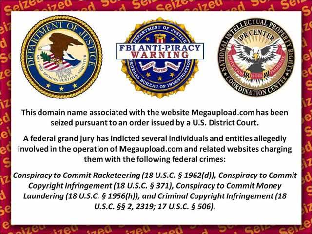 MEGAUPLOAD fue clausurado por el FBI MegaUploadDestrozado