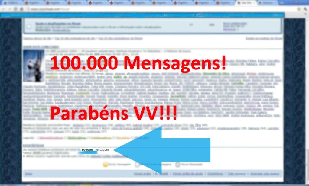 100.000 mensagens! 100000