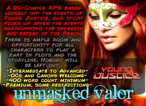 Unmasked Valor | DC Comics | JCink Maskad2