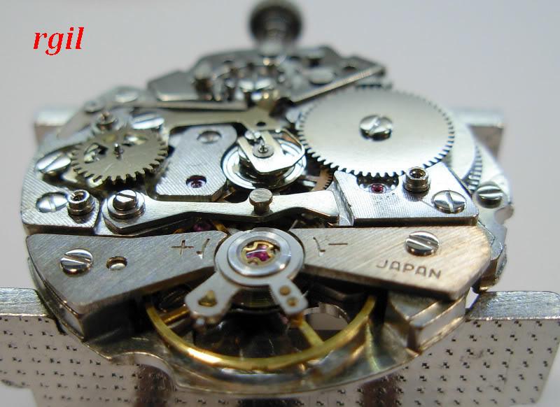 Révision de ma Seiko 6139 A. Tout complete Seiko6139A082