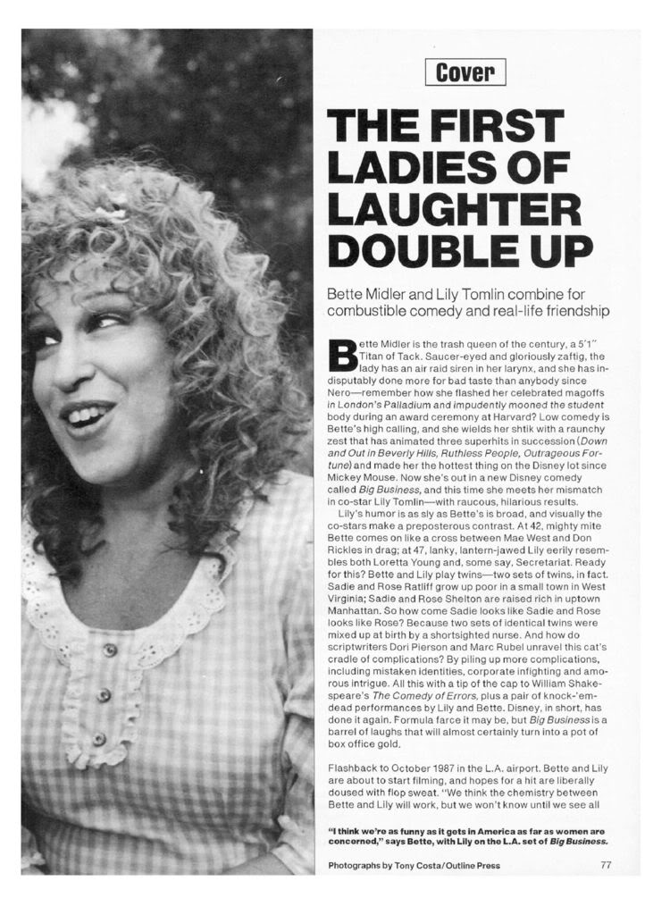 PEOPLE MAGAZINE:June 20, 1988, The First Ladies of Laughter 19880620-750-82