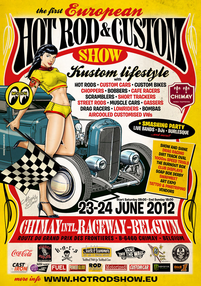 1ste Hot rod & Custom show Chimay 23-24  June 2012 CHIMAY
