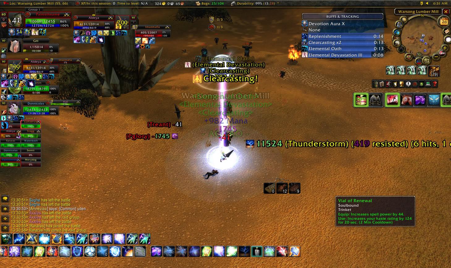 lmao tier3 shaman higher hit then meh donor rogue WoWScrnShot_062609_133102