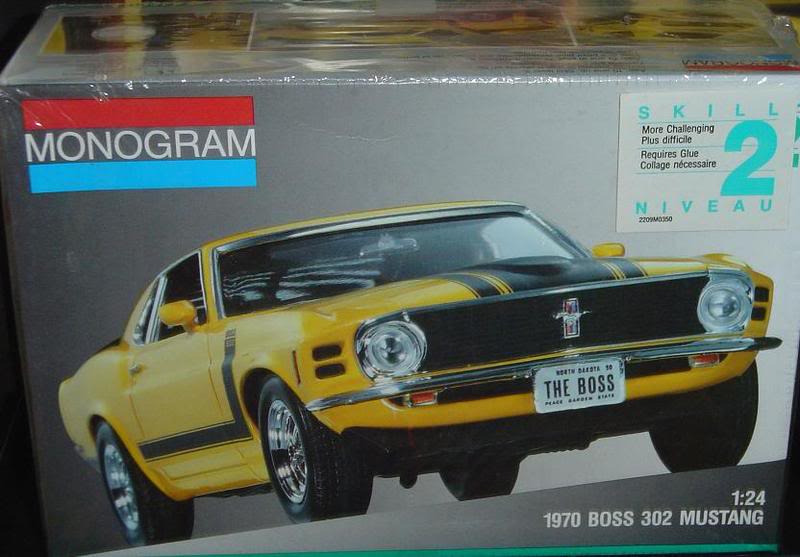 plusieurs kits neuf a vendre(skyline,RX-7,Boss302,shelby...) 1970MustangBOSS302
