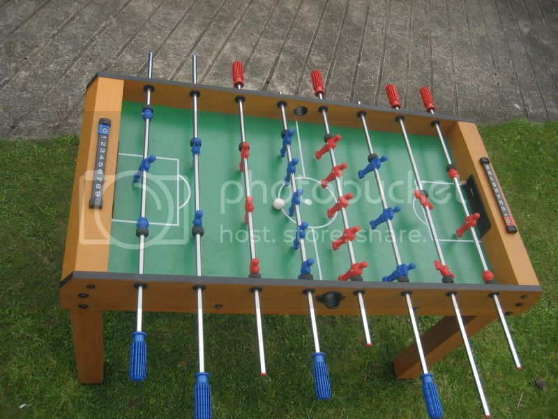 RANDOM...fussball table and weights bench IMG_5515