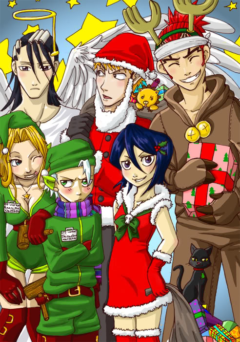 Merry Christmas, Happy Hanakuh, Happy Kwanza, and if you're atheist, Have a Nice Day! Bleach_christmas_by_lainchan