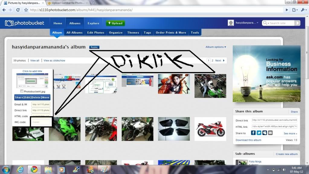 Upload Gambar Ke Photobucket Photobucket6