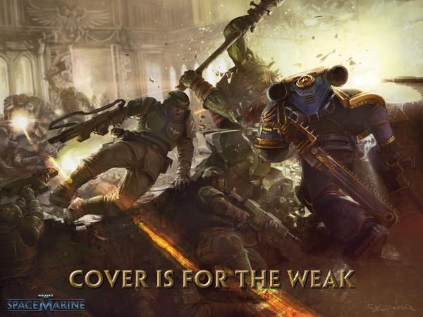 [E3] Eternal Crusade, un MMO Warhammer 40K - Page 10 SpaceMarine_CoverIsForTheWeak-600x450