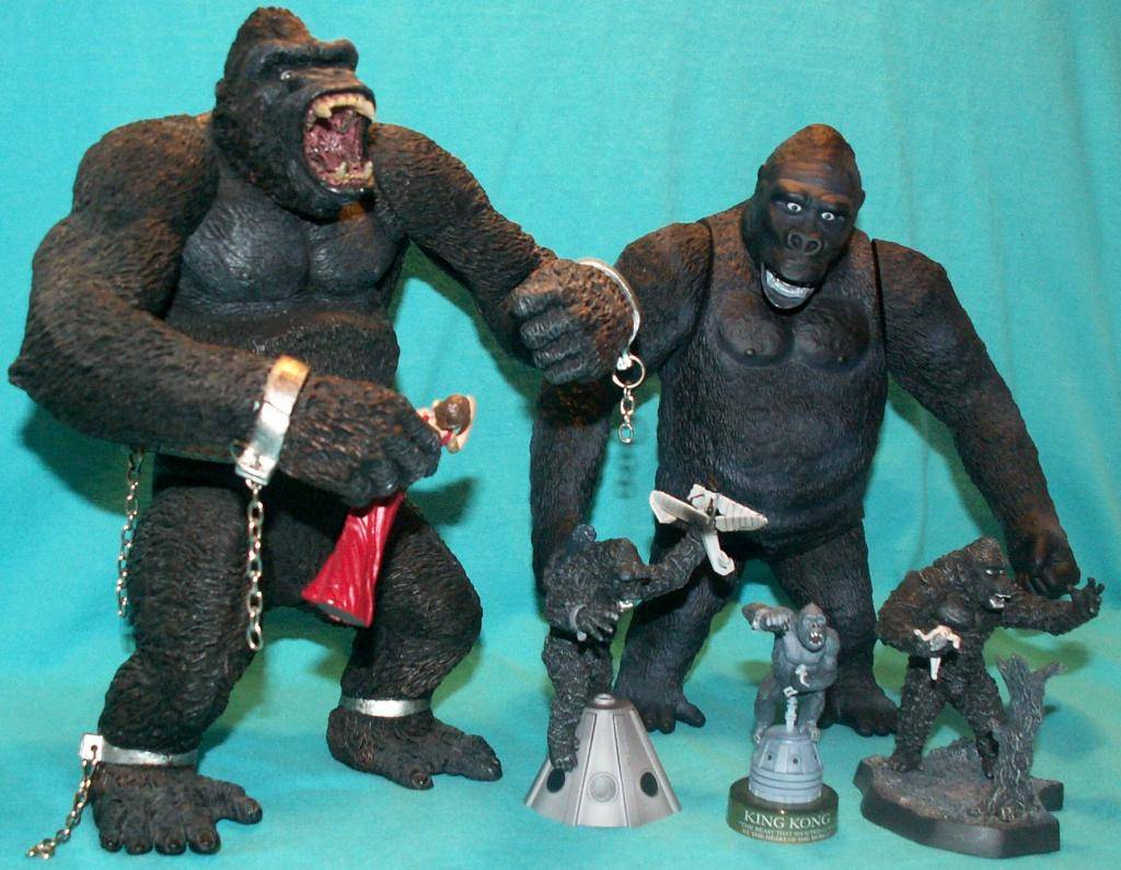 King Kong figures by Konami & X-Plus! 33KongComparison
