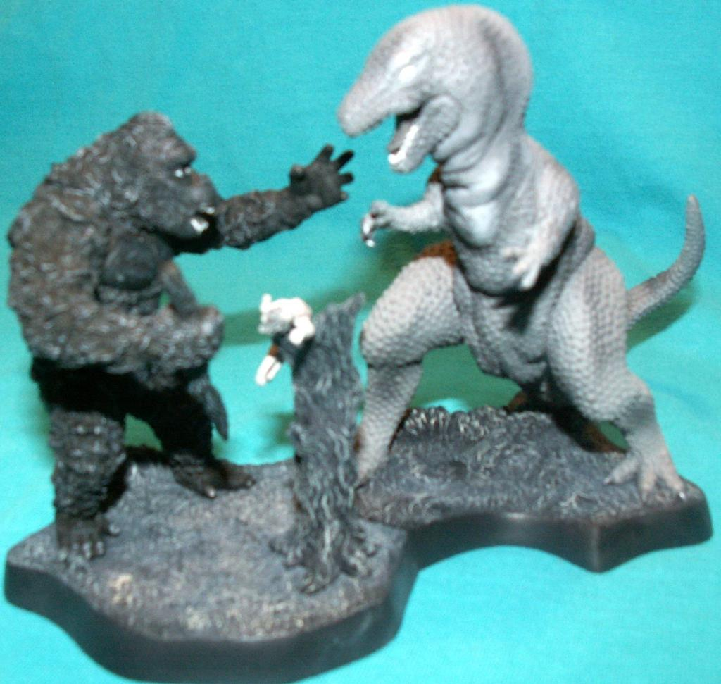 King Kong figures by Konami & X-Plus! KongvsT-RexsavingAnn