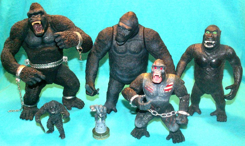 King Kong figures by Konami & X-Plus! KONG33Comparison