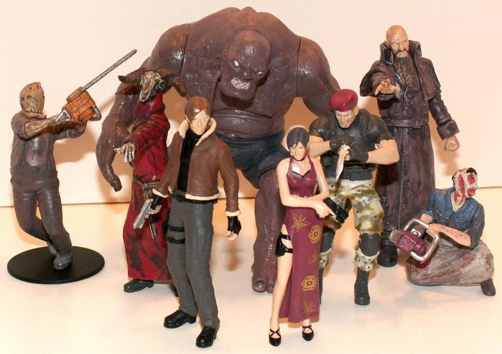 Resident Evil 4 & 5 Figures by Agatsuma & NECA!!!!!!! RE-4Series1Group