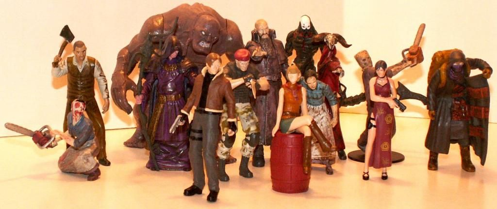 Resident Evil 4 & 5 Figures by Agatsuma & NECA!!!!!!! RE-4Series1amp2Group