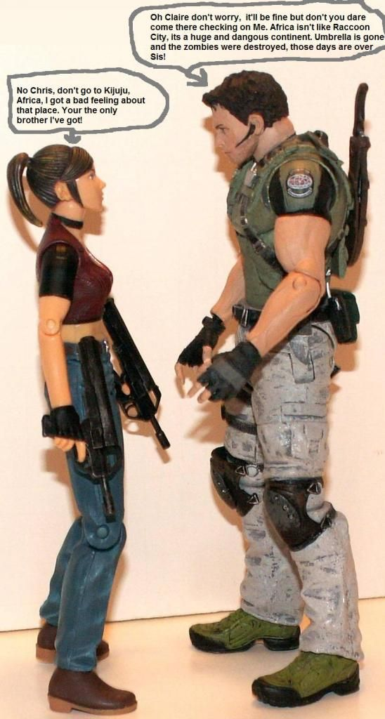 Resident Evil 4 & 5 Figures by Agatsuma & NECA!!!!!!! ChrisampClaire