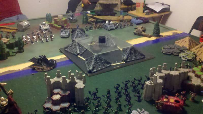 June 25th, 3vs3 game. 1500 pts for each Army!!! 9x6