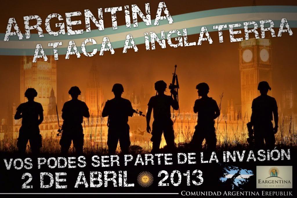 En un videojuego masivo enlinea, Argentina invade a Inglaterra! Orden1