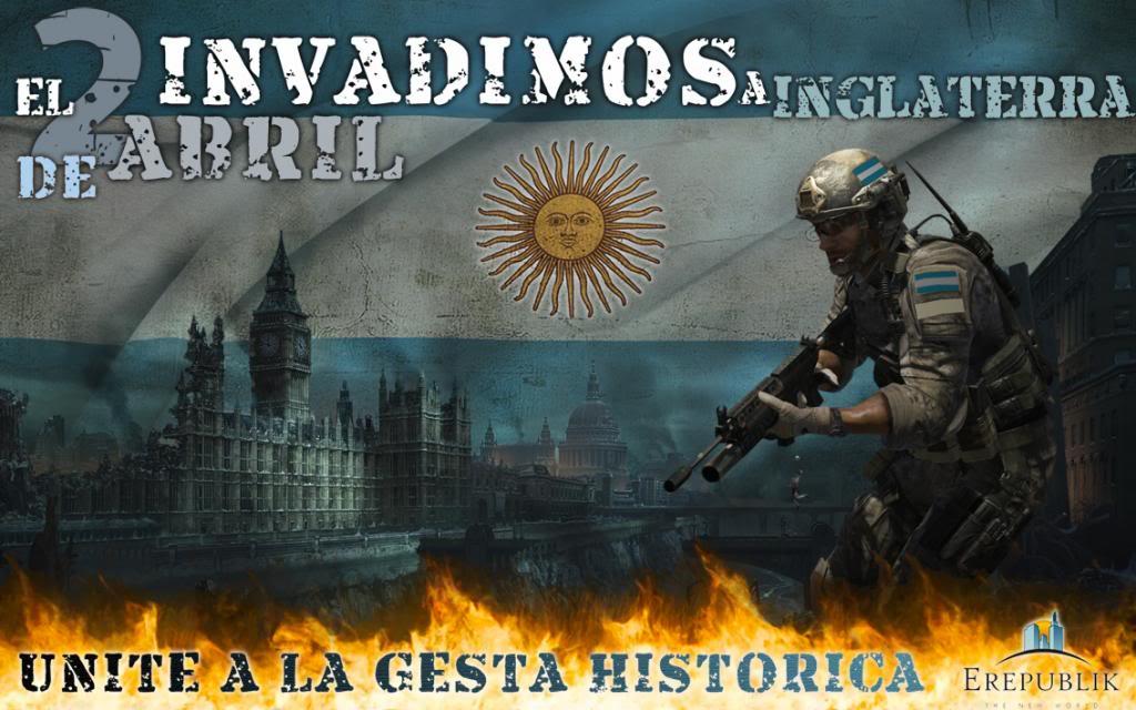 En un videojuego masivo enlinea, Argentina invade a Inglaterra! Orden9