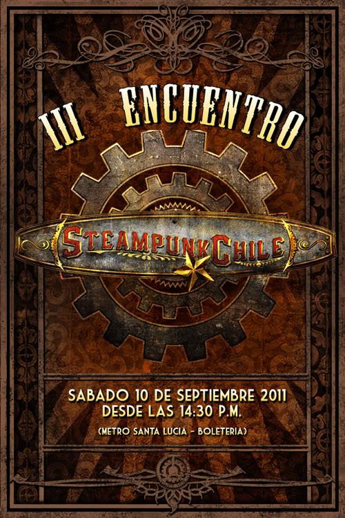 III Encuentro Steampunk Chile Aficheforo
