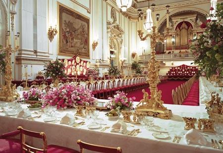 O. Binns du Town Hall de Rochdale (UK) Banquetset