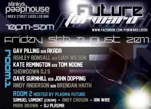 Forward:Leeds pres. Future Forward PART 2 - Friday 5 August FacebookAugust-1