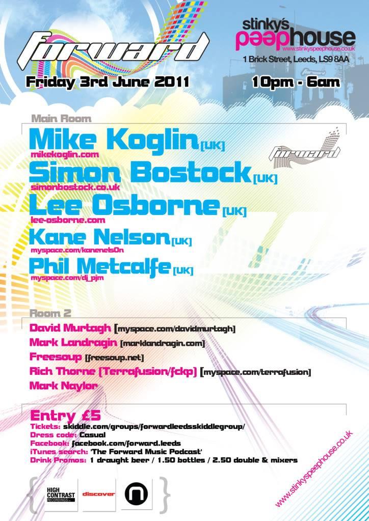 Forward:Leeds - Summer Sessions, Friday 3 June FlyerBack