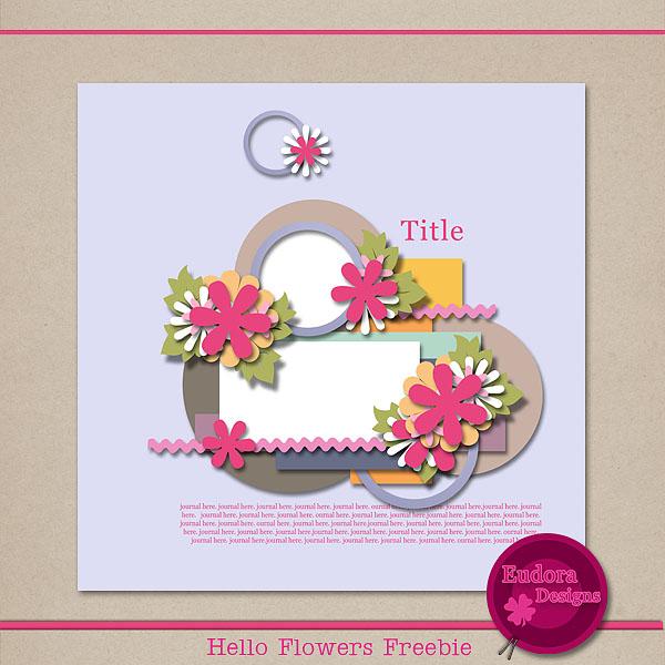 Hello Flowers freebie. HFF_zpsc6250044