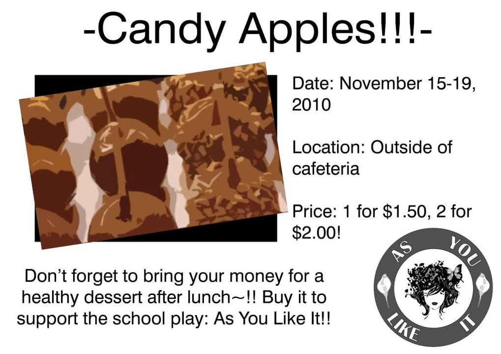 Poster for Candy Apple Sale Untitled-2