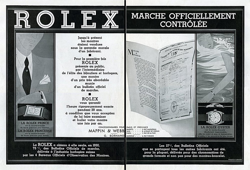 1951, chronomètre & chronomètre ChronometreRolex1930